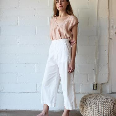 AVA CROPPED PANT - WHITE - 8