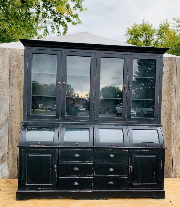 Black Bread Cabinet-4 Roll