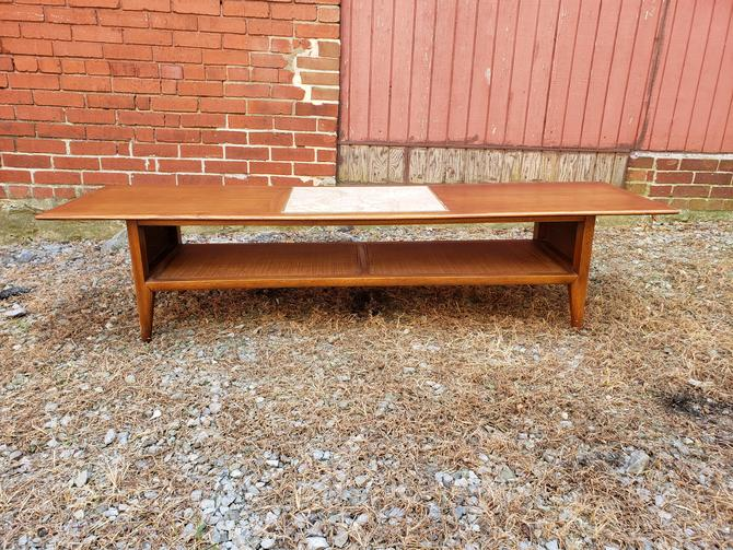 Lane Mid-century Modern Coffee Table with Italian Marble