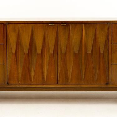 Albert Parvin for American of Martinsville Mid Century Modern Diamond Dresser Credenza - mcm by ModernHill