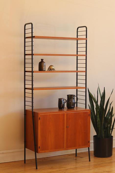 Mid Century Danish Modern Tall Airy Bookshelf by SharkGravy