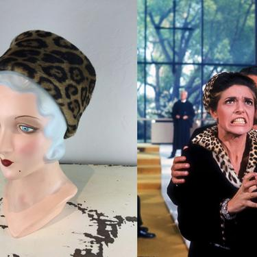 A Wedding Disruption - Vintage 1950s 1960s Fez Styled Faux Leopard Toque Hat Stove Top Hat by RoadsLessTravelled2
