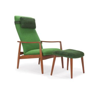 Svend Langkilde Teak Lounge Chair & Ottoman by MCMSanFrancisco