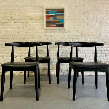 Mid Century Modern styled EBONIZED DINING CHAIRS, Set of 4 by CIRCA60