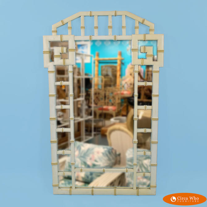 Faux Bamboo Fretwork Mirror