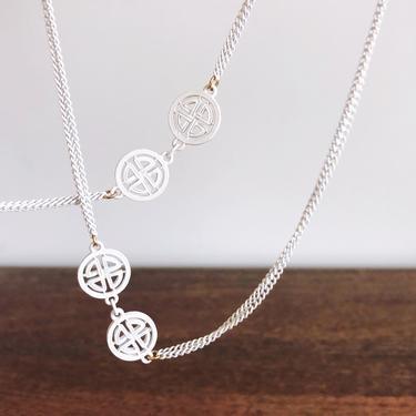 Vintage Monet White Chain Necklace by TheDistilleryVintage