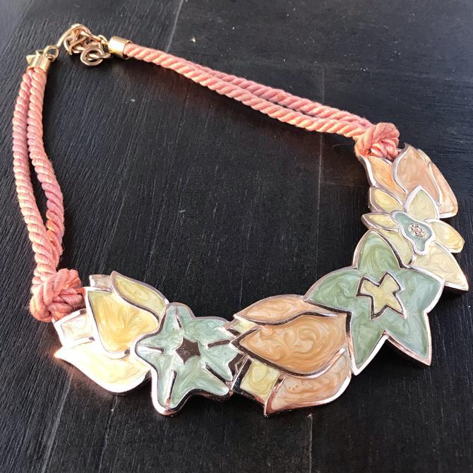1980's Monet floral Necklace