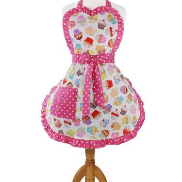 Retro Cupcake Apron by VintageGaleria