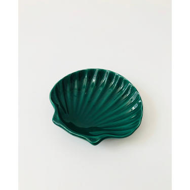 Vintage Ceramic Teal Shell Tray by SergeantSailor