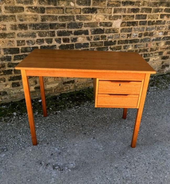 Danish Modern Teak Writing Desk by Bent Silberg for Mobler