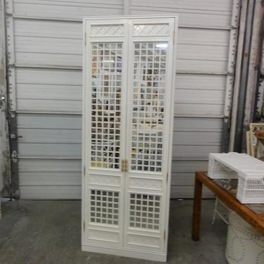 Hollywood Regency Palm Beach Mirrored Cabinet
