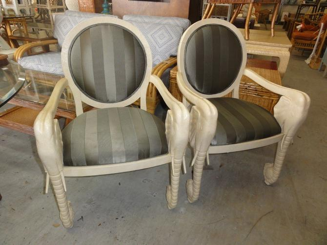 Pair of Elephant Arm Chairs