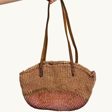 Large Woven Jute & Sisal Market Bag by SonjloStudio