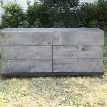"""X6320m *Hardwood 6 Drawer Dresser, Overlap Drawers, thick base, 60"""" wide x 20"""" deep x 30"""" tall - natural color by SolidCherryHeirlooms"""