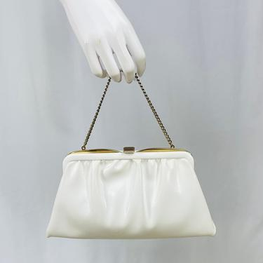 Vintage 1960s White Ande's  Convertible Clutch by timelesspieces