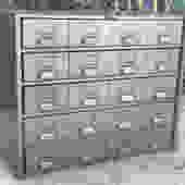 Vintage 20 drawer industrial metal cabinet