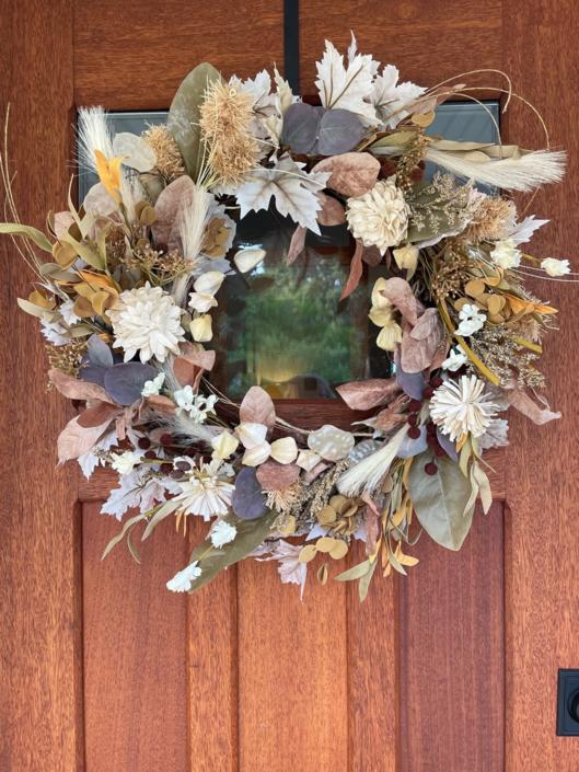 Boho Muted Fall Wreath, Fall Wreath for Front Door, Front Porch Decor, Halloween Wreath by NovaWreaths