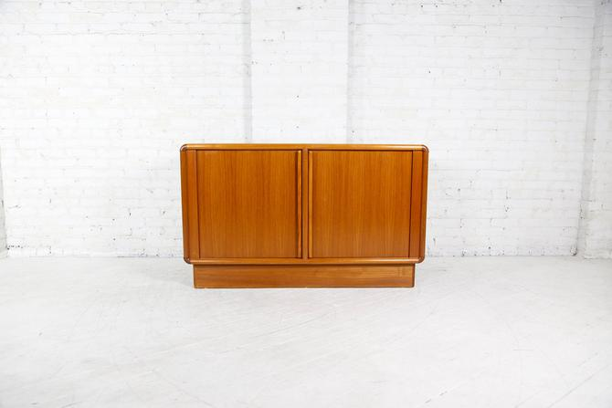 Vintage Danish small credenza with tambour doors | Free delivery ONLY in NYC area by OmasaProjects