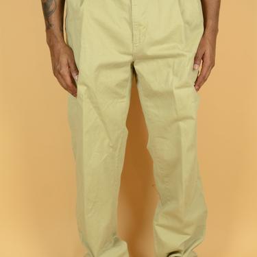 Vintage Pleated Ralph Lauren Pleated Pants / Trousers Beige Cream 34x31 34x32 34x30 35x31 35x32 35x30  36x31 36x32 36x30 by MAWSUPPLY