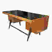 Large Gio Ponti Attributed Desk