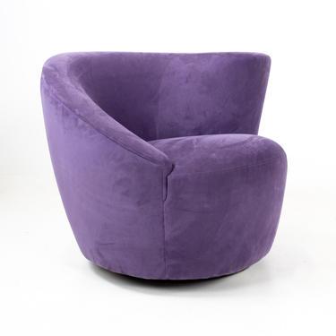 Vladimir Kagan for Weiman Mid Century Purple Nautilus Chair - mcm by ModernHill