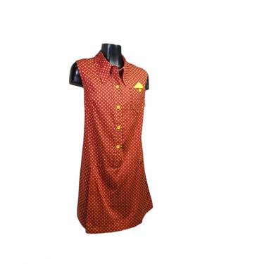 Vintage Geometric Romper Jumpsuit, One Piece Coulottes Skort, Deadstock 1960s 1970s Retro Summer Dress, Onesie Playsuit, Vintage Clothing by AGoGoVintage