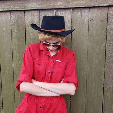 Vintage Black Cowboy Hat Rabbit Fur / Classic Black Wide Brimmed Country Western Boho Hat / Mavis by RareJuleVintage