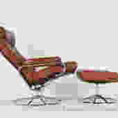 Leather Stressless Reclining Chair with Ottoman