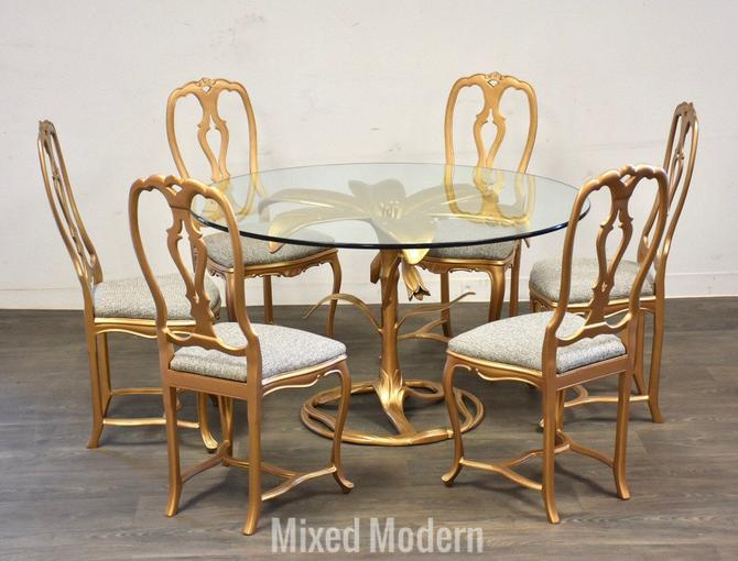 Arthur Court Tiger Lily Dining Table and Chairs by mixedmodern1