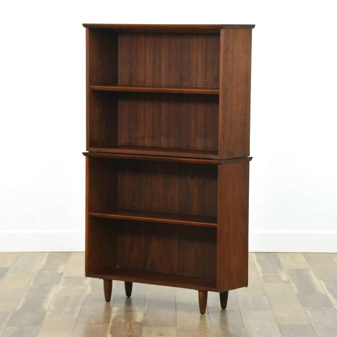 Mid Century Modern Stacking Bookcase W Tapered Legs