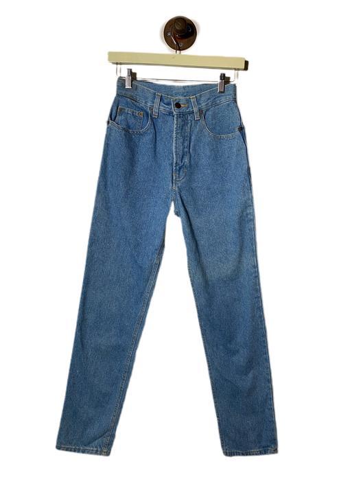 """(26"""") Five Stars Button Light Blue Wash Denim Pants 022221."""