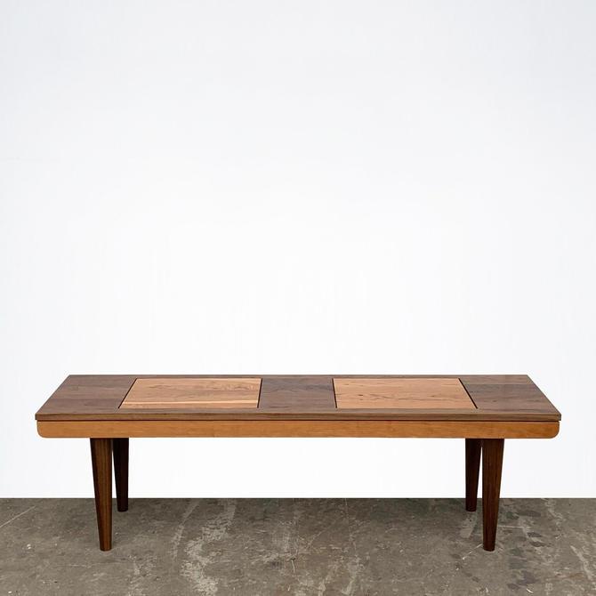 Modern Bench / Coffee Table - Walnut and Cherry - Mid Century Modern by STORnewyork