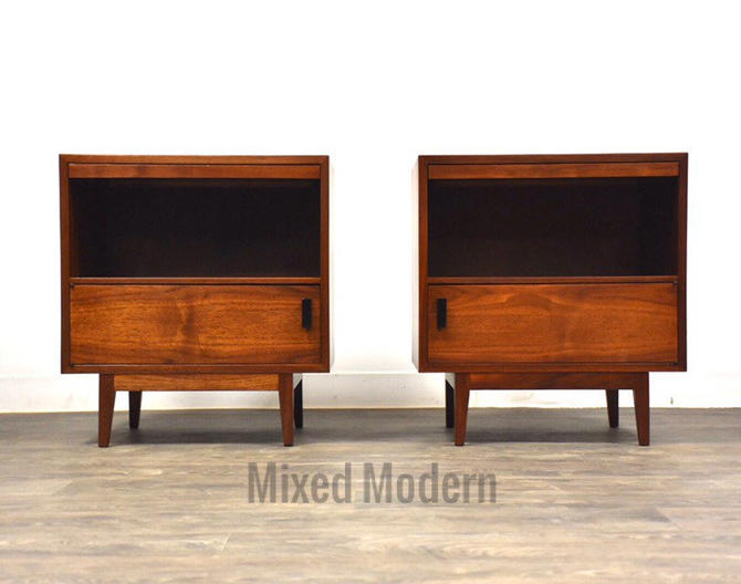 Founders Walnut Nightstands - A Pair by mixedmodern1