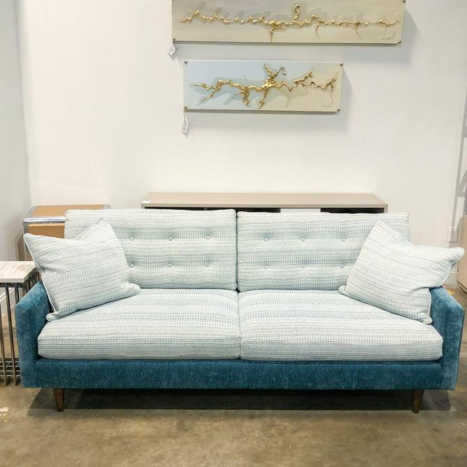 Southern Contrast Teal Sofa