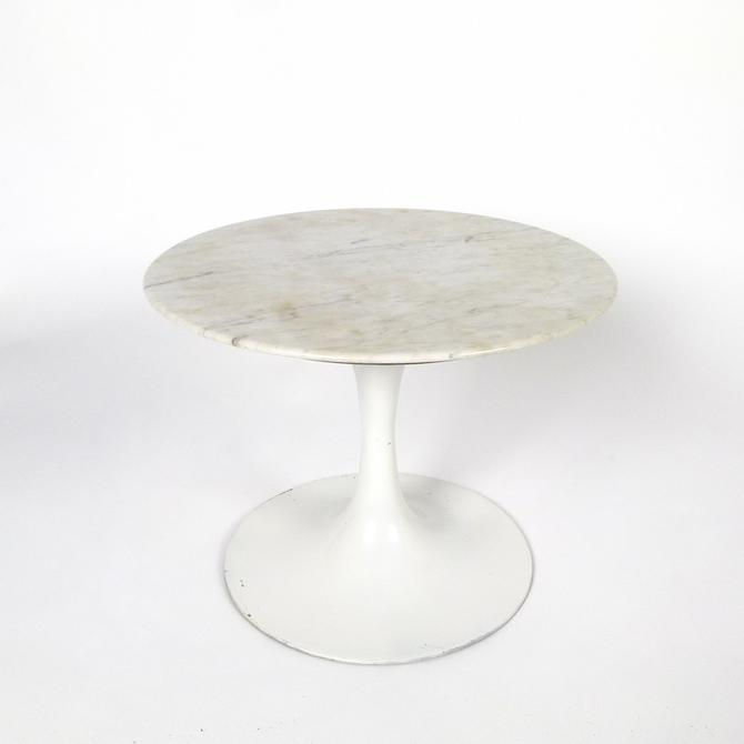 Saarinen Style Marble Top Occasional Table