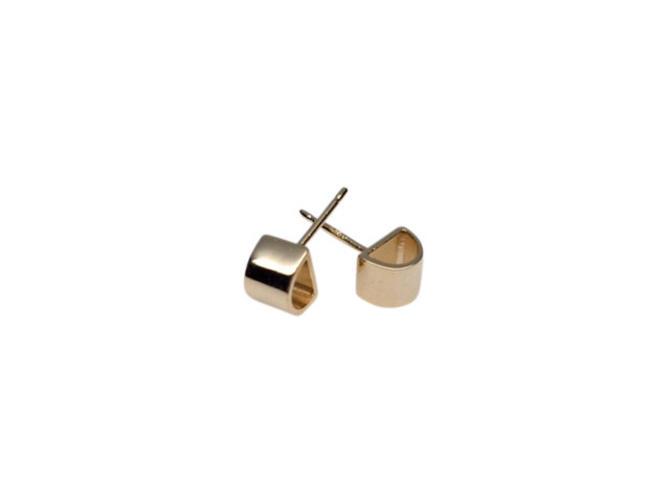 Gold half circle studs Gold semi circle earrings, Gold stud earrings, Half round earrings, simple studs by SarahCecelia