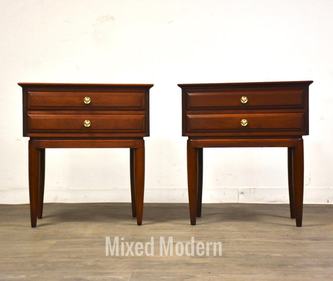Solid Cherry Nightstands by Willett - A Pair by mixedmodern1