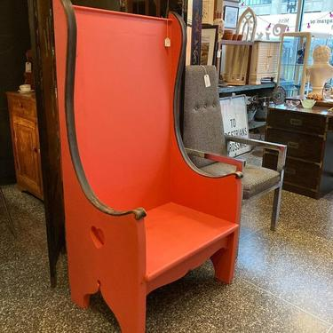 """Wacky painted chair. 29.5"""" x 21"""" x 57.5"""" seat height 15"""""""