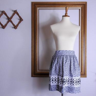 Vintage Style Waist Apron / Retro Short Apron by blackwellhabitat