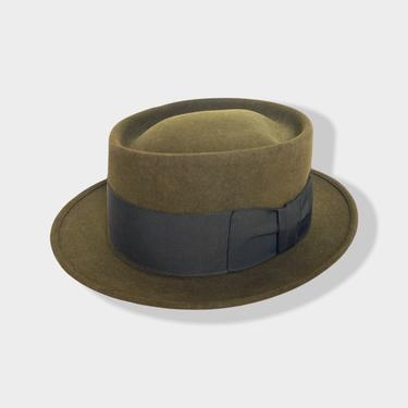 Vintage 1960s BRAEBURN Porkpie Fedora ~ size 7 ~ Hat ~ Stingy Brim ~ Fur Felt ~ Trilby by SparrowsAndWolves