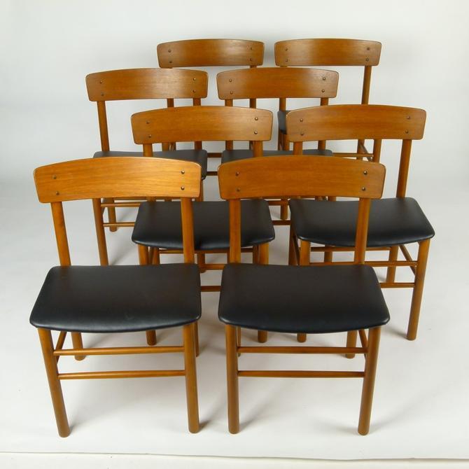 Set of 8 Teak Farstrup Chairs