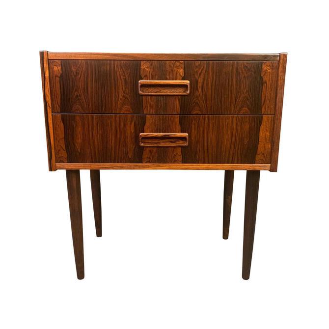 Vintage Danish Mid Century Modern Rosewood Nightstand - Entry Chest by AymerickModern