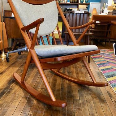 Danish Teak Rocking Chair by Frank Reenskaug