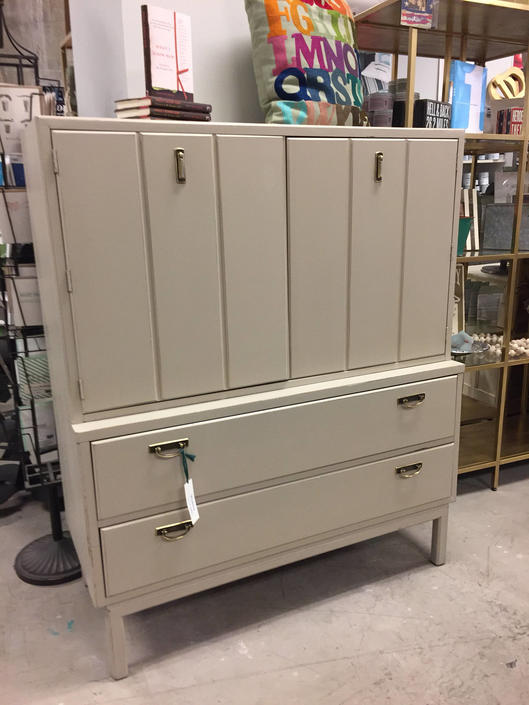Tall Tan Dresser 6/9 by StylishPatina