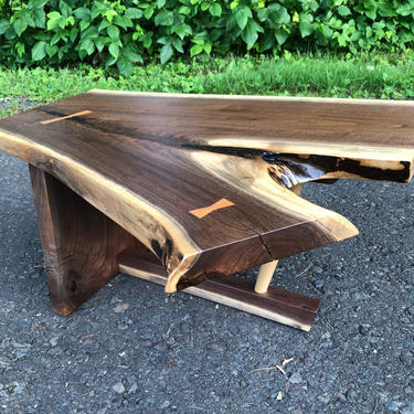 Mid Century Modern , Side Table , George Nakashima Style , Live Edge , Danish Modern End Table , Contemporary Style Furniture by donyacovella
