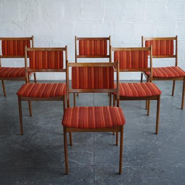 Mid-Century Dining Chairs with Original Upholstery