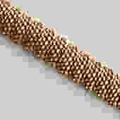 Monet Snake Skin Texture Bracelet Gold Tone by LegendaryBeast