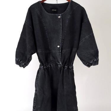 Holt Dress - Washed Black Denim
