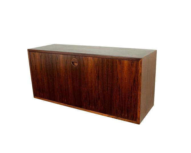 Rosewood Floating Desk or Bar Cabinet for a HG Furniture, Hansen Guldborg Wall Unit Danish Modern by HearthsideHome