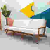 Outdoor Sleek Teak Sofa